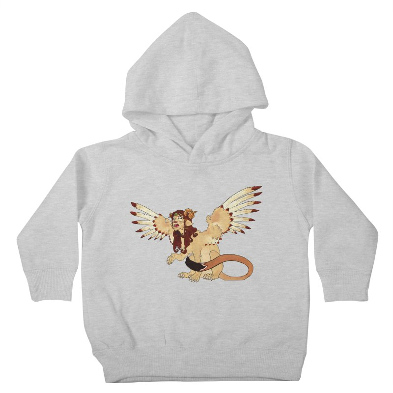 Sphynx Goddess woman lion eagle mythical creation Kids Toddler Pullover Hoody by rootinspirations's Artist Shop