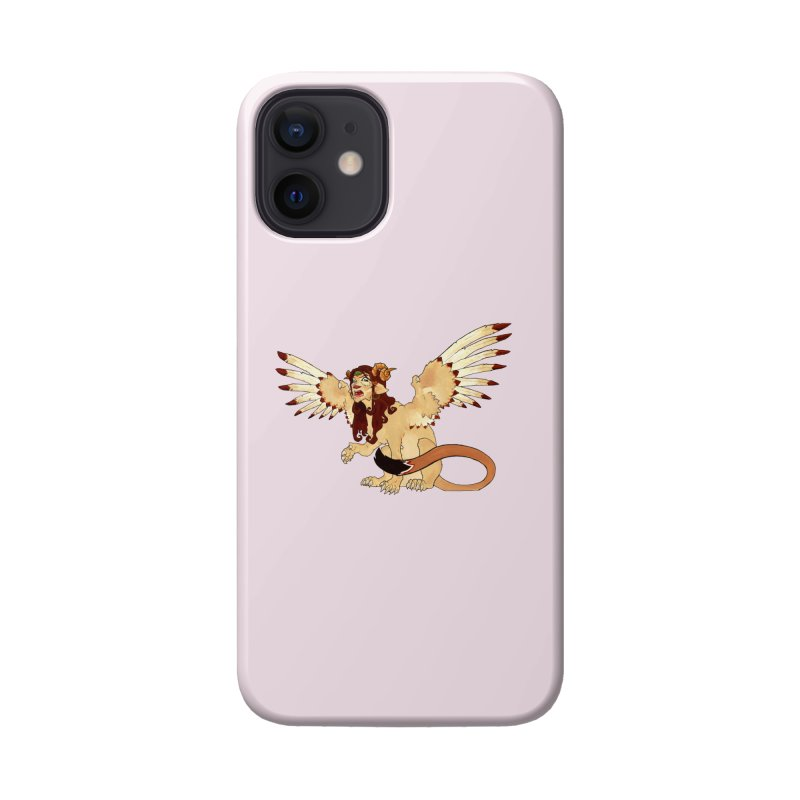 Sphynx Goddess woman lion eagle mythical creation Accessories Phone Case by rootinspirations's Artist Shop