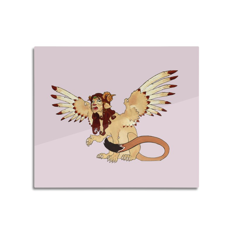 Sphynx Goddess woman lion eagle mythical creation Home Mounted Acrylic Print by rootinspirations's Artist Shop
