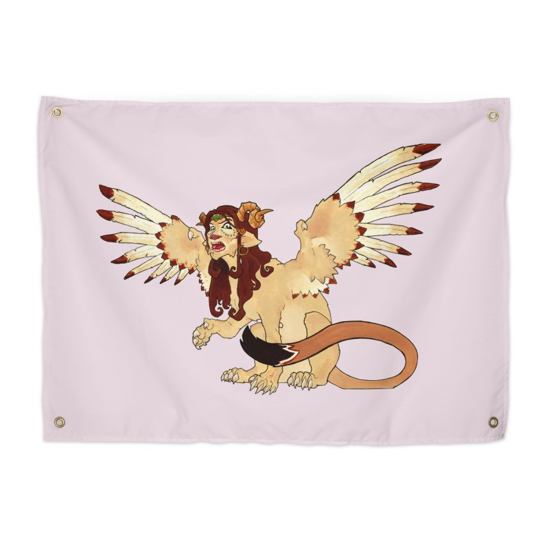 Sphynx Goddess woman lion eagle mythical creation Home Tapestry by rootinspirations's Artist Shop