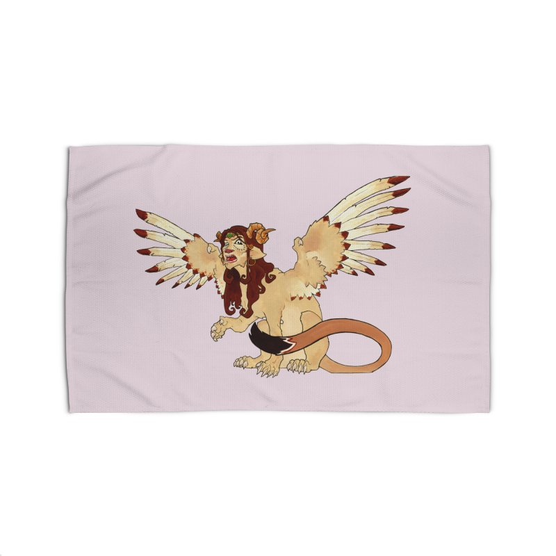 Sphynx Goddess woman lion eagle mythical creation Home Rug by rootinspirations's Artist Shop
