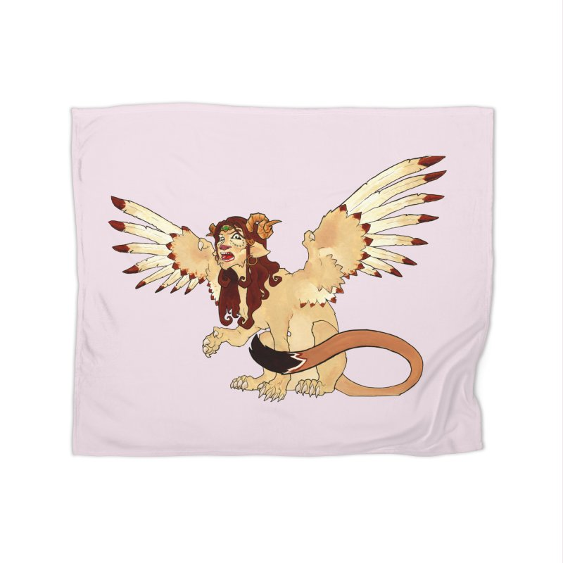 Sphynx Goddess woman lion eagle mythical creation Home Blanket by rootinspirations's Artist Shop