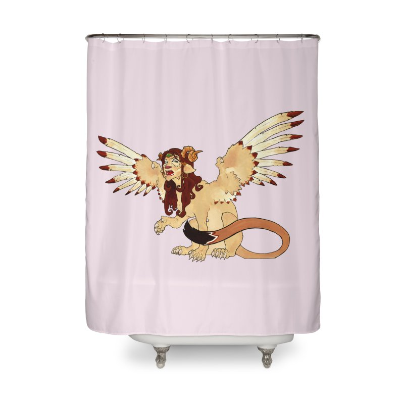 Sphynx Goddess woman lion eagle mythical creation Home Shower Curtain by rootinspirations's Artist Shop