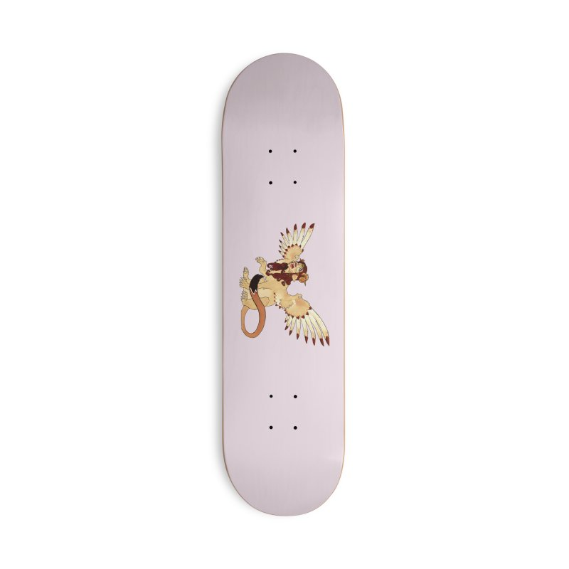 Sphynx Goddess woman lion eagle mythical creation Accessories Skateboard by rootinspirations's Artist Shop