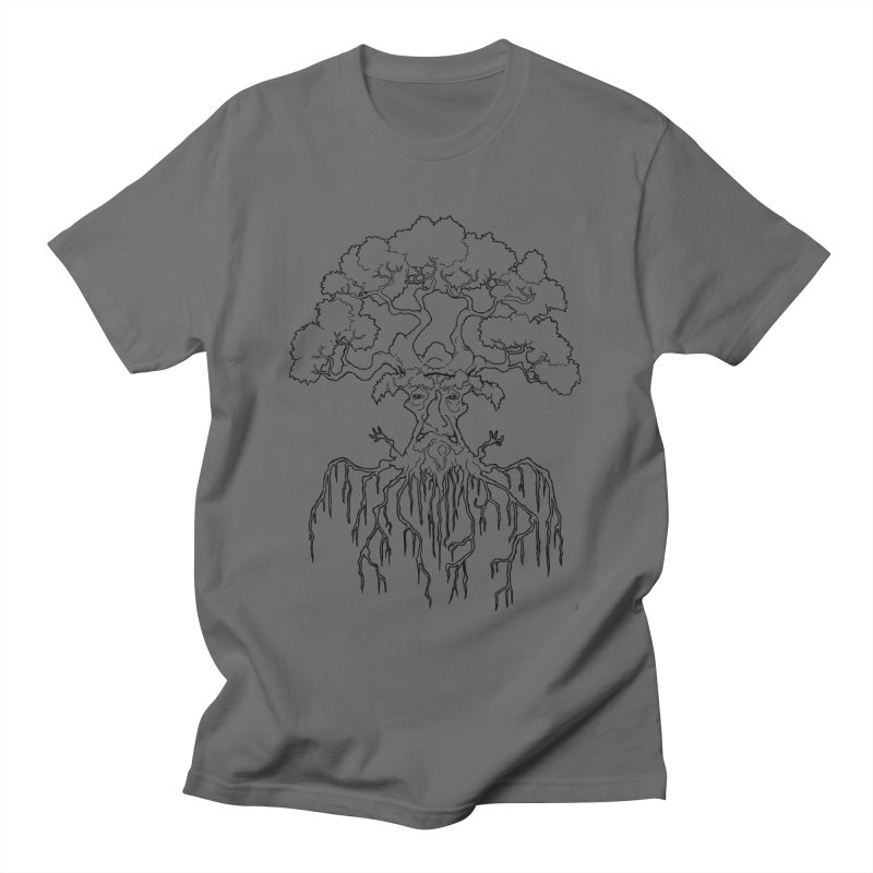 Duality Tree, Tree of Life, line-art tree design Men's T-Shirt by rootinspirations's Artist Shop