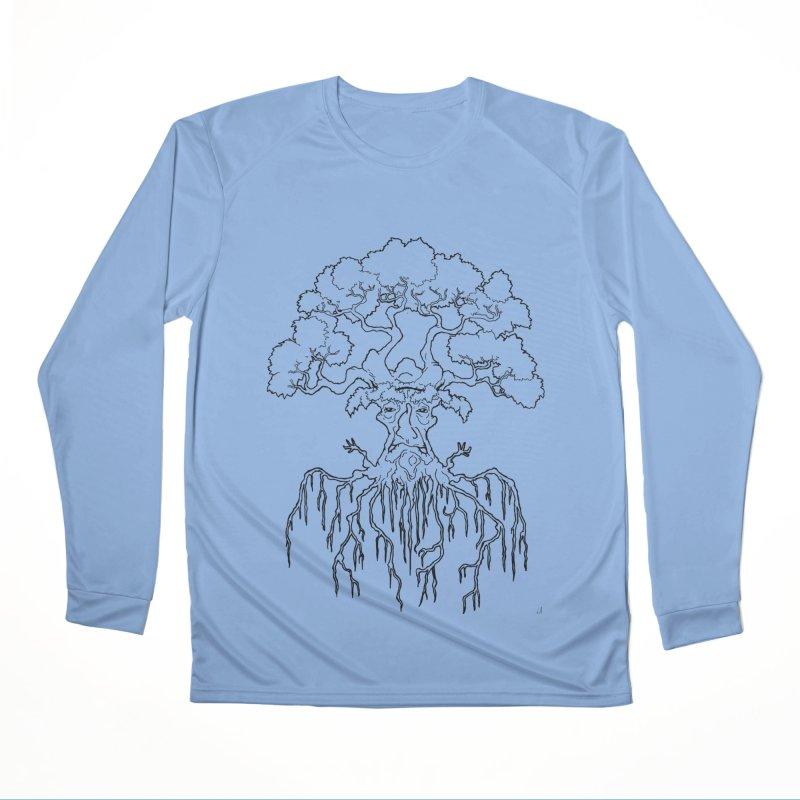 Duality Tree, Tree of Life, line-art tree design Men's Longsleeve T-Shirt by rootinspirations's Artist Shop