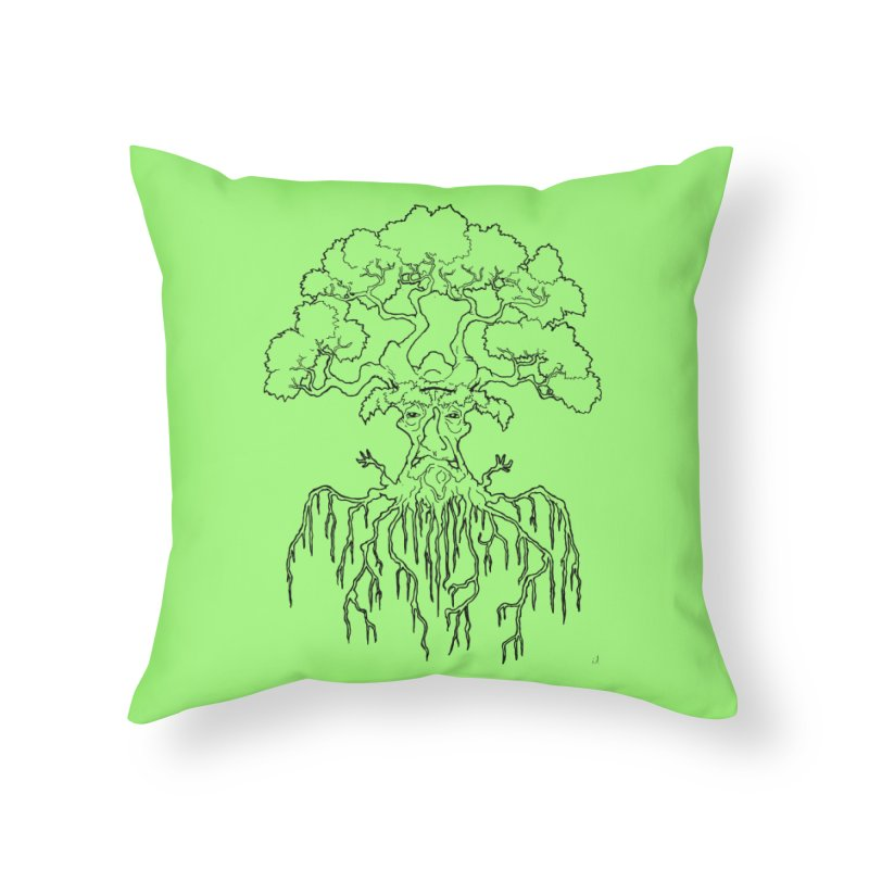Duality Tree, Tree of Life, line-art tree design Home Throw Pillow by rootinspirations's Artist Shop
