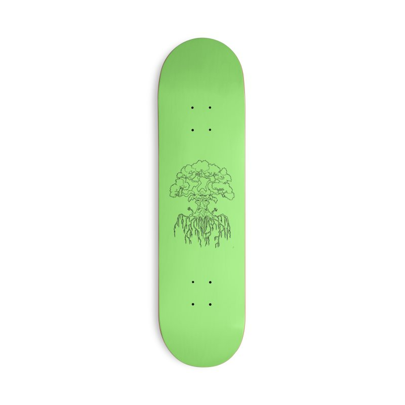 Duality Tree, Tree of Life, line-art tree design Accessories Skateboard by rootinspirations's Artist Shop
