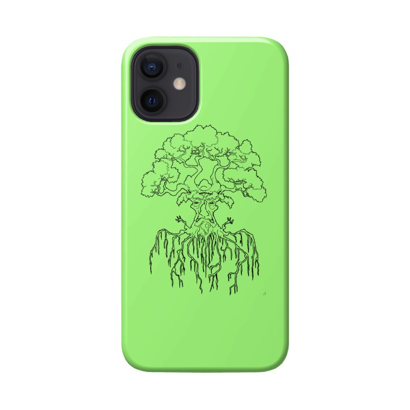 Duality Tree, Tree of Life, line-art tree design Accessories Phone Case by rootinspirations's Artist Shop