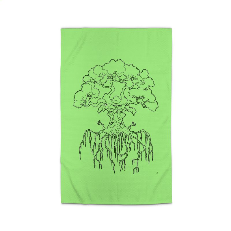 Duality Tree, Tree of Life, line-art tree design Home Rug by rootinspirations's Artist Shop