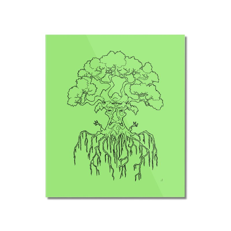 Duality Tree, Tree of Life, line-art tree design Home Mounted Acrylic Print by rootinspirations's Artist Shop