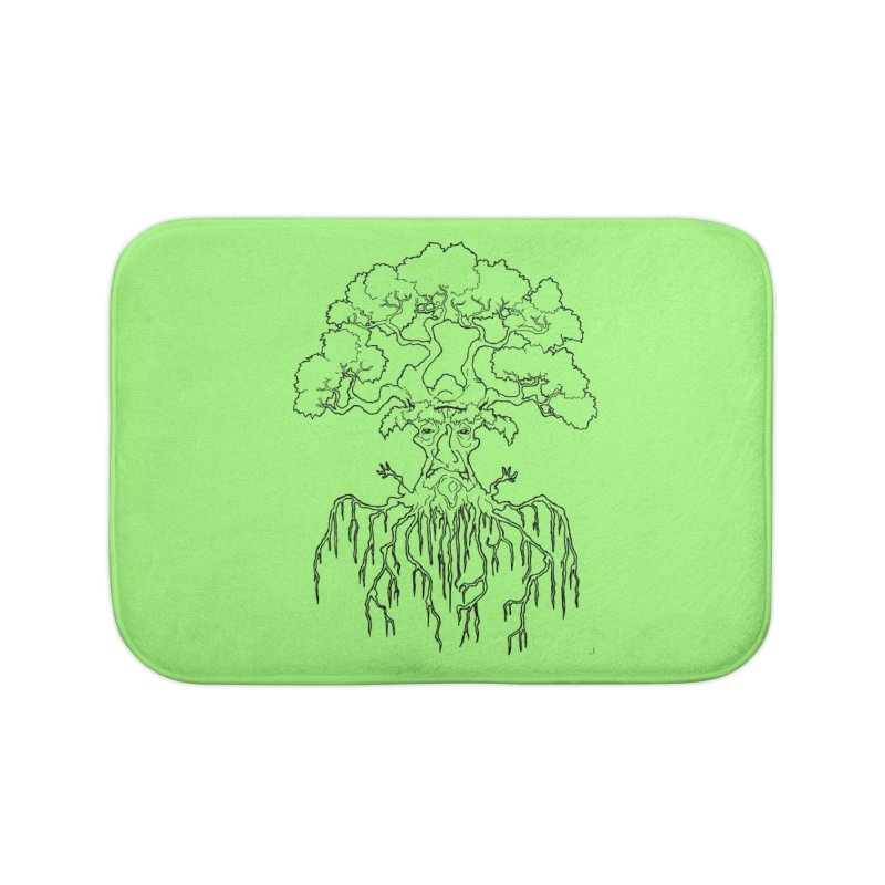 Duality Tree, Tree of Life, line-art tree design Home Bath Mat by rootinspirations's Artist Shop