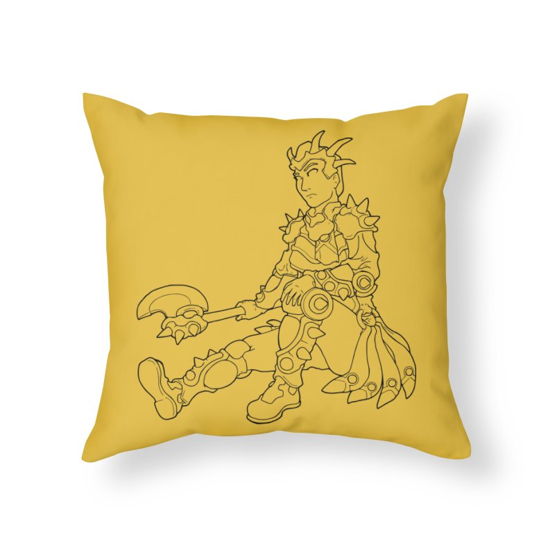 Autumn Avatar, personification of seasons Home Throw Pillow by rootinspirations's Artist Shop