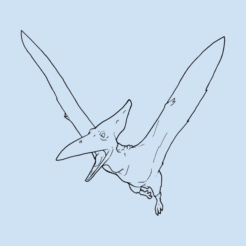 Pterosaur Flying, flying dinosaur character Men's Longsleeve T-Shirt by rootinspirations's Artist Shop