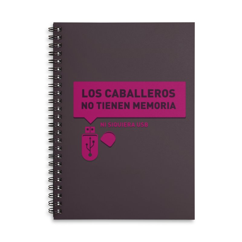 Los Caballeros No Tienen Memoria Accessories Lined Spiral Notebook by ropero.mx