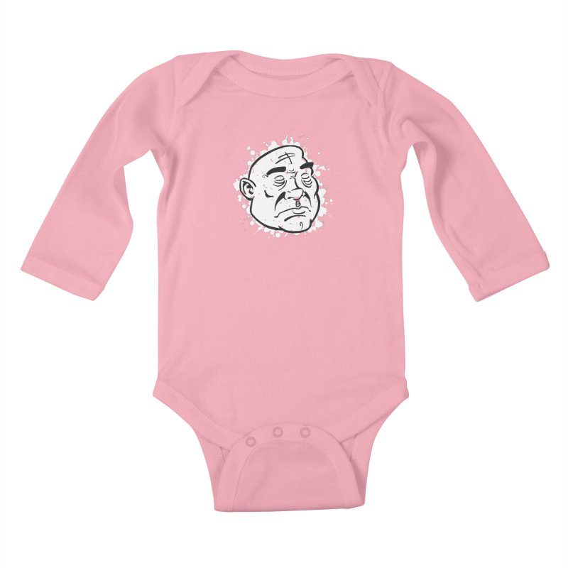 Facialisation Kids Baby Longsleeve Bodysuit by Murphed