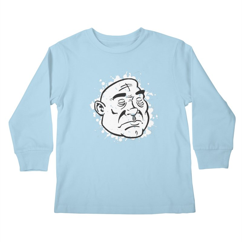 Facialisation Kids Longsleeve T-Shirt by Murphed
