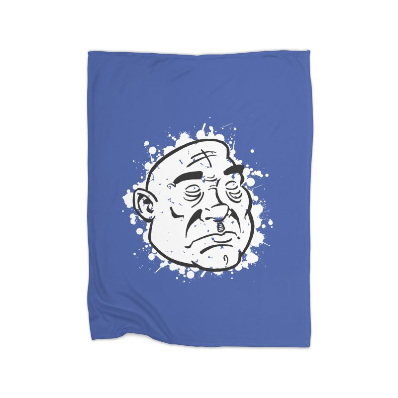 Facialisation Home Fleece Blanket by Murphed
