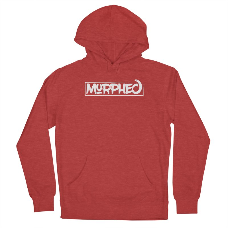 Murphed Logo (White on Black) Men's French Terry Pullover Hoody by Murphed