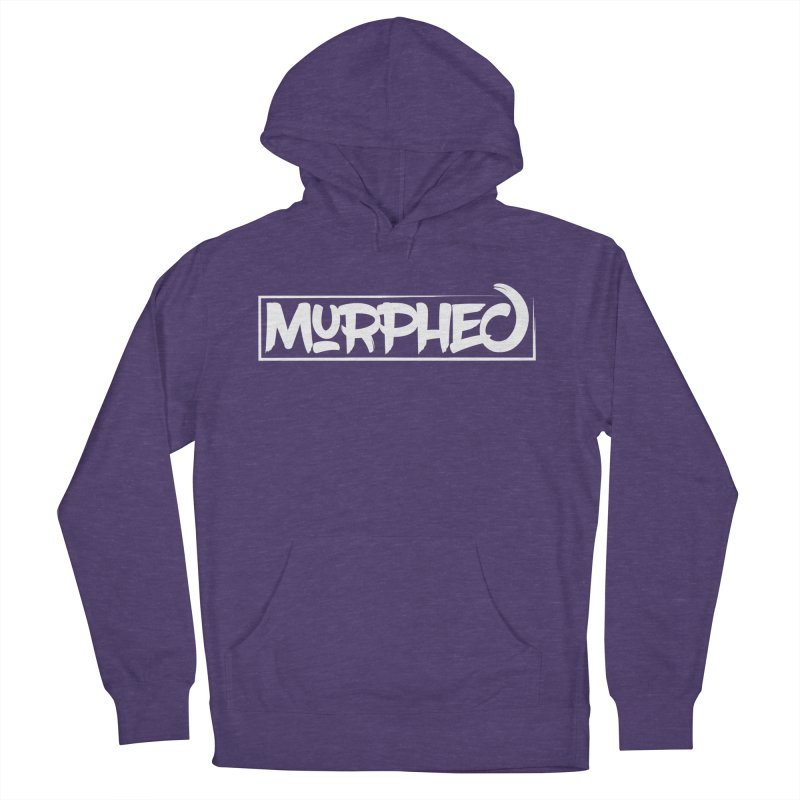 Murphed Logo (White on Black) Women's French Terry Pullover Hoody by Murphed