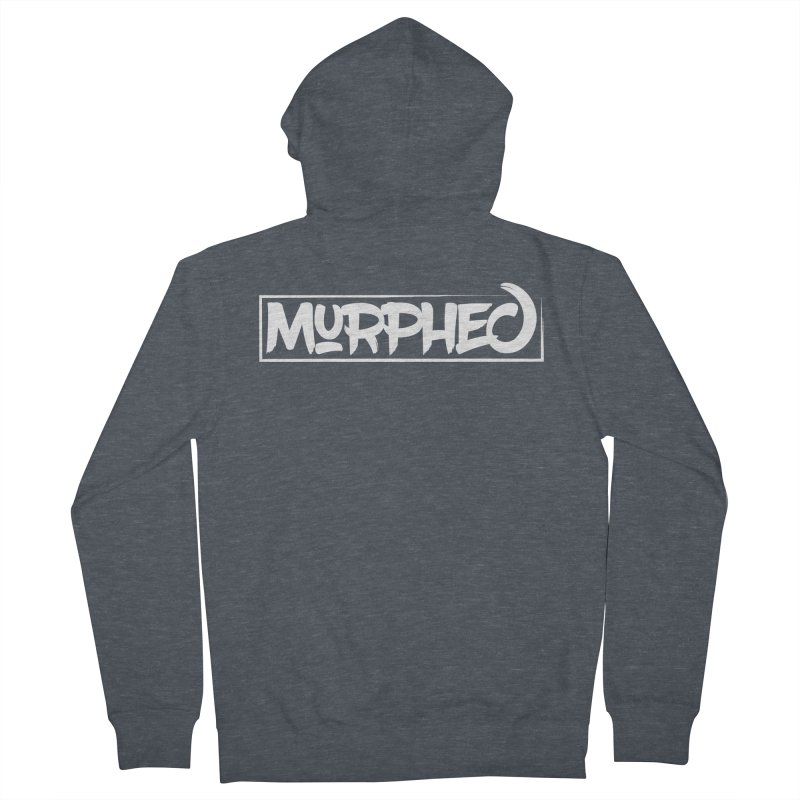 Murphed Logo (White on Black) Women's French Terry Zip-Up Hoody by Murphed