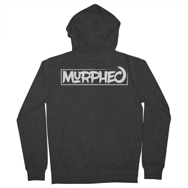 Murphed Logo (White on Black) Men's Zip-Up Hoody by Murphed