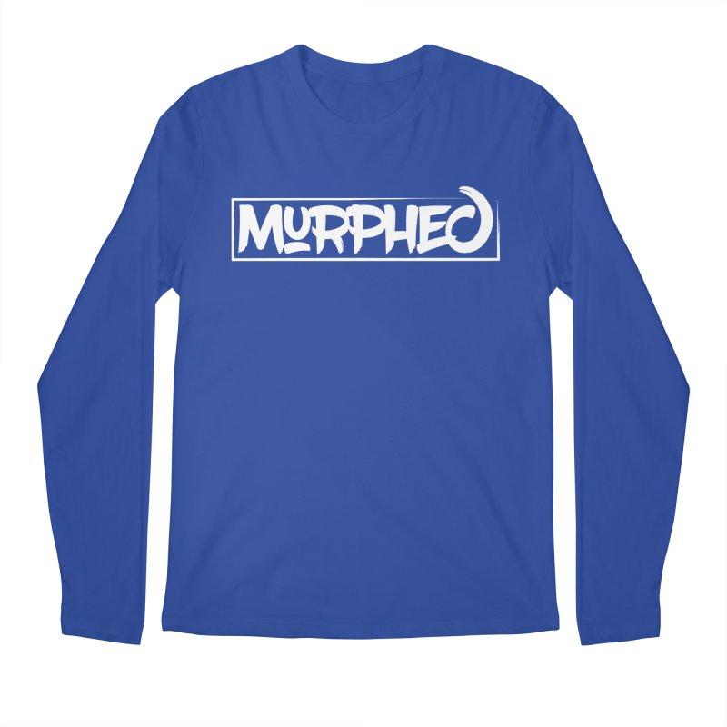 Murphed Logo (White on Black) Men's Regular Longsleeve T-Shirt by Murphed