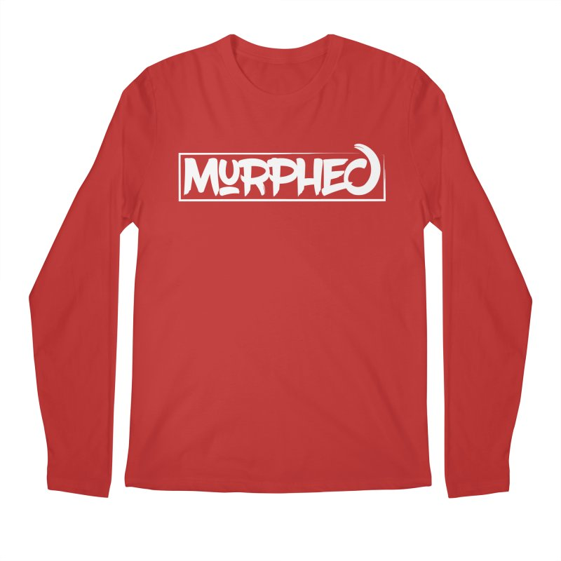 Murphed Logo (White on Black) Men's Regular Longsleeve T-Shirt by Murphed