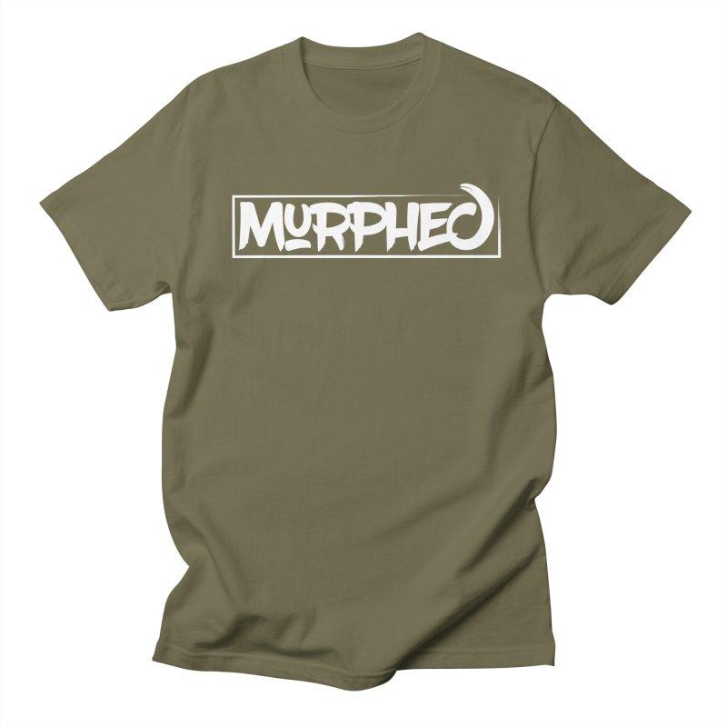Murphed Logo (White on Black) Men's Regular T-Shirt by Murphed