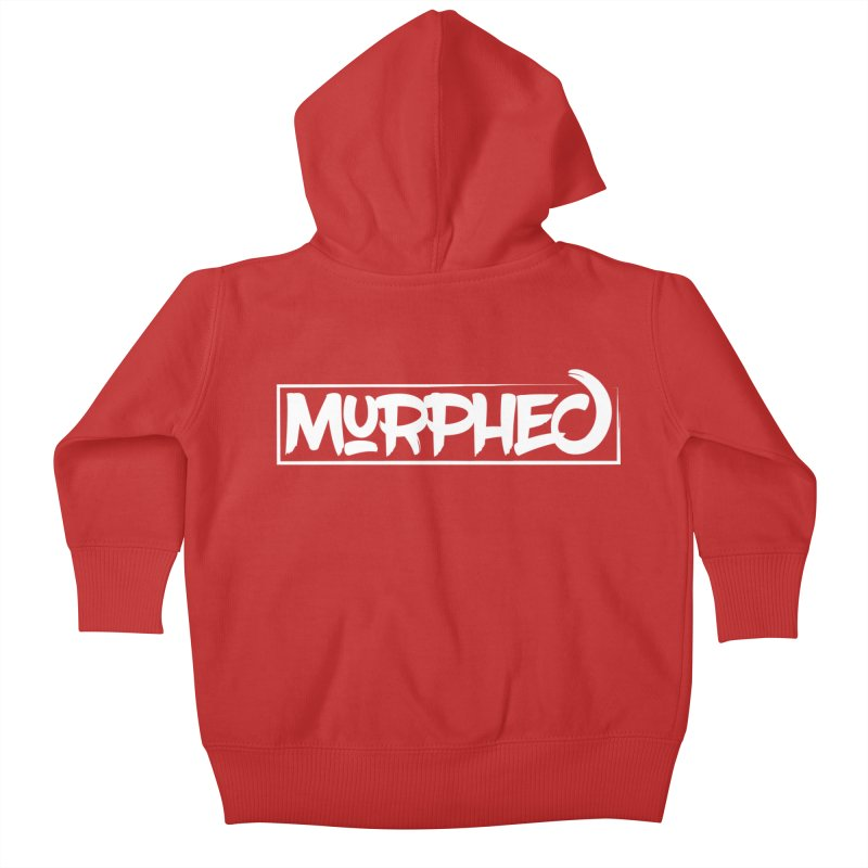 Murphed Logo (White) Kids Baby Zip-Up Hoody by Murphed