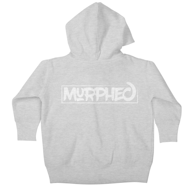 Murphed Logo (White on Black) Kids Baby Zip-Up Hoody by Murphed
