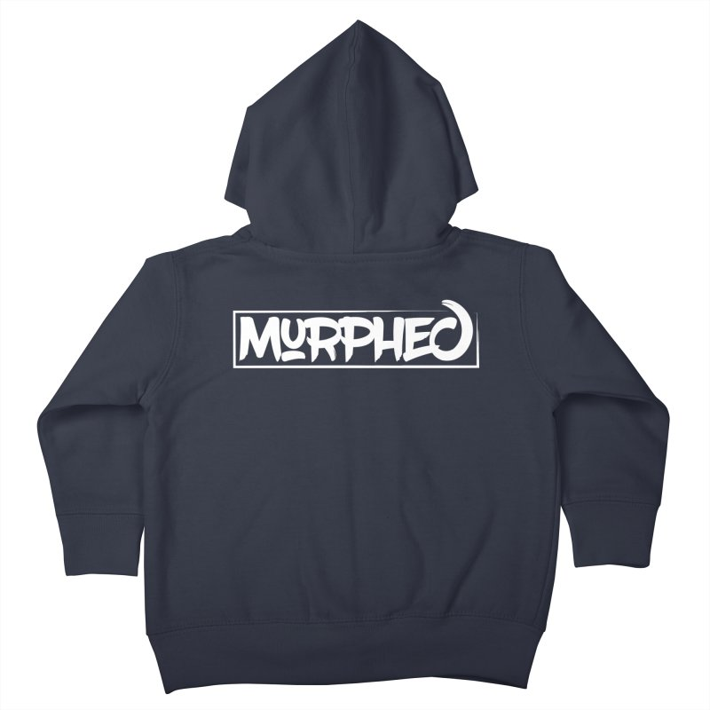 Murphed Logo (White on Black) Kids Toddler Zip-Up Hoody by Murphed