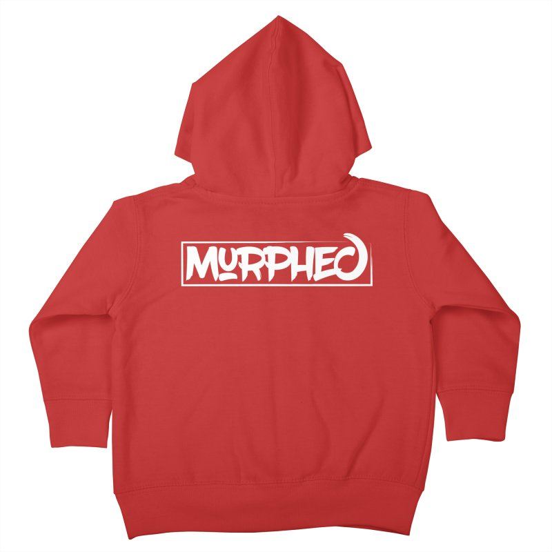 Murphed Logo (White) Kids Toddler Zip-Up Hoody by Murphed