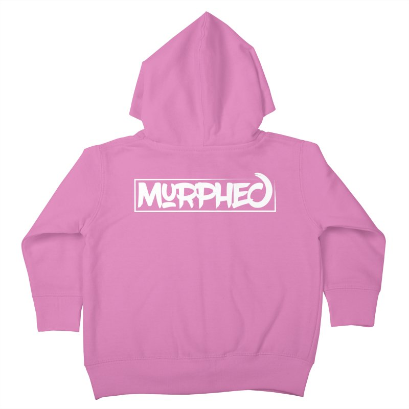 Murphed Logo (White) Kids Toddler Zip-Up Hoody by Murphed