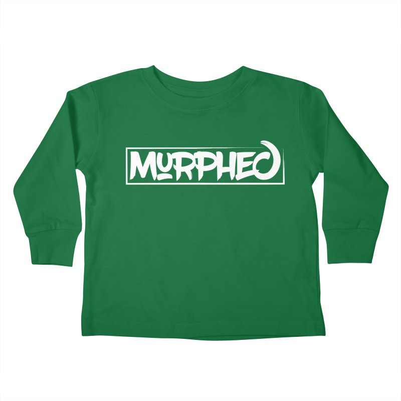 Murphed Logo (White) Kids Toddler Longsleeve T-Shirt by Murphed