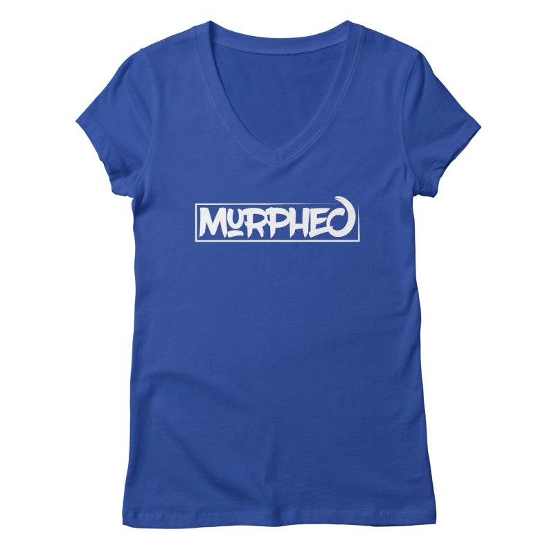 Murphed Logo (White on Black) Women's Regular V-Neck by Murphed