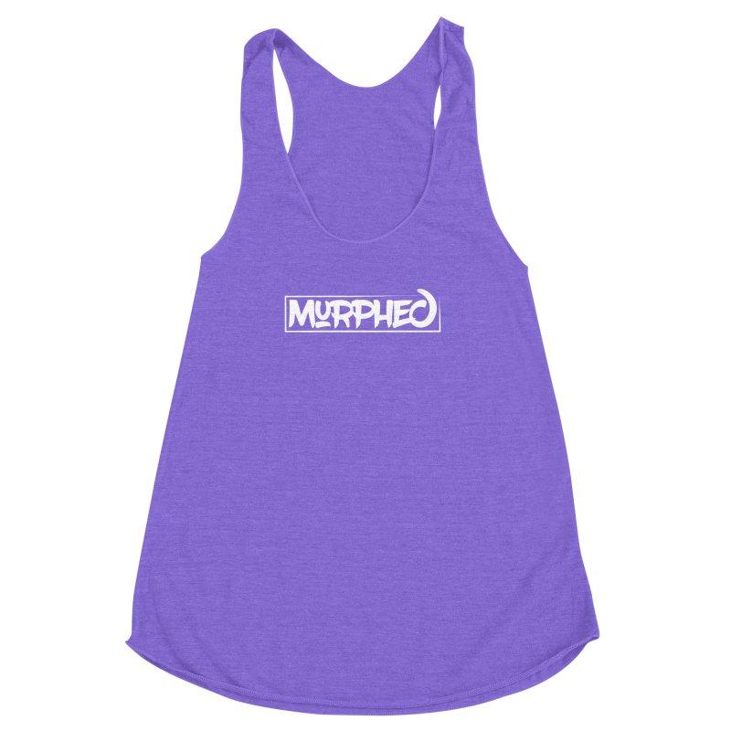 Murphed Logo (White) Women's Racerback Triblend Tank by Murphed