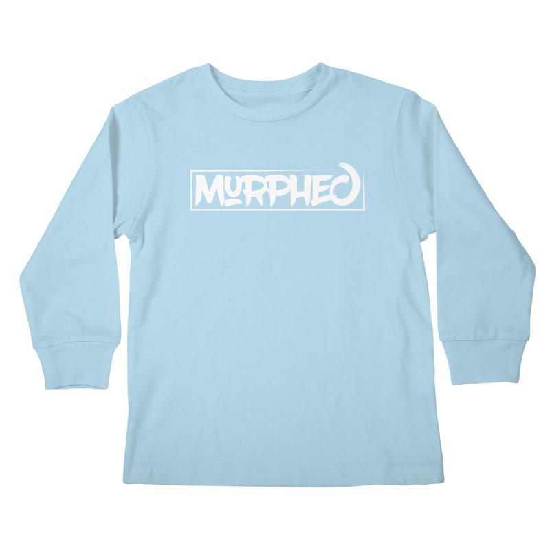 Murphed Logo (White on Black) Kids Longsleeve T-Shirt by Murphed