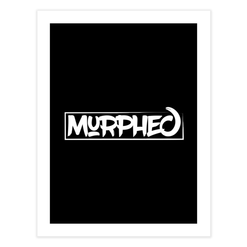 Murphed Logo (White) Home Fine Art Print by Murphed
