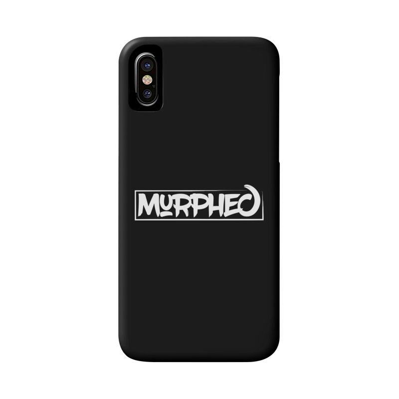 Murphed Logo (White on Black) Accessories Phone Case by Murphed