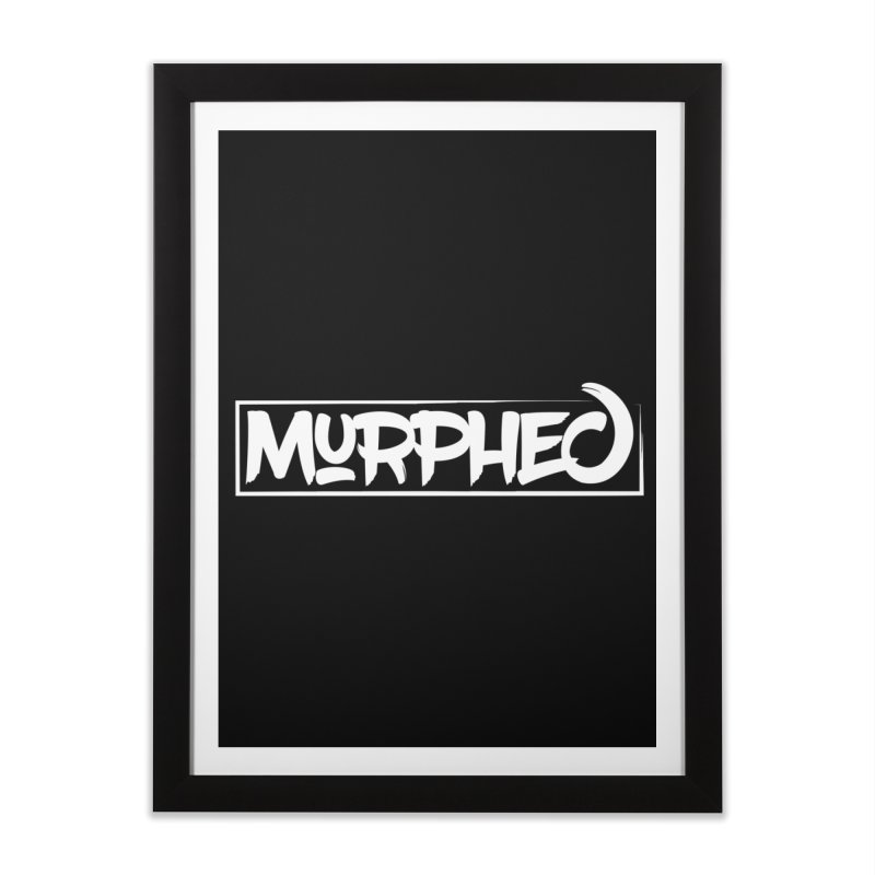 Murphed Logo (White on Black) Home Framed Fine Art Print by Murphed