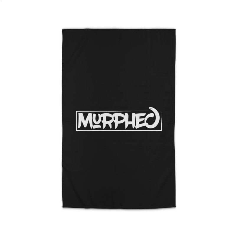 Murphed Logo (White on Black) Home Rug by Murphed