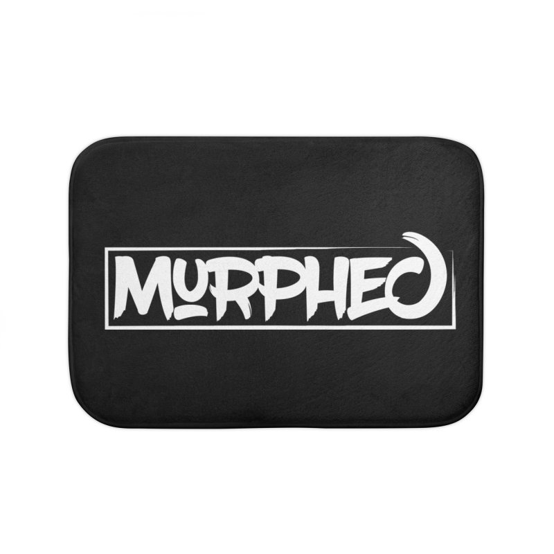 Murphed Logo (White on Black) Home Bath Mat by Murphed