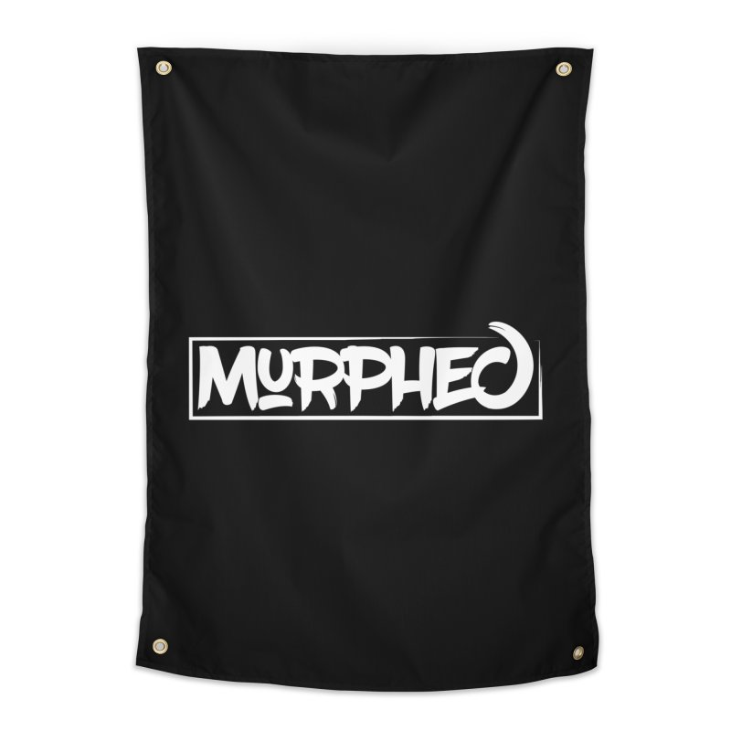 Murphed Logo (White on Black) Home Tapestry by Murphed