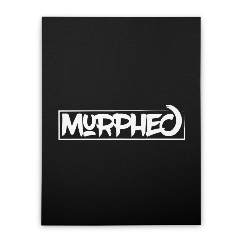 Murphed Logo (White on Black) Home Stretched Canvas by Murphed