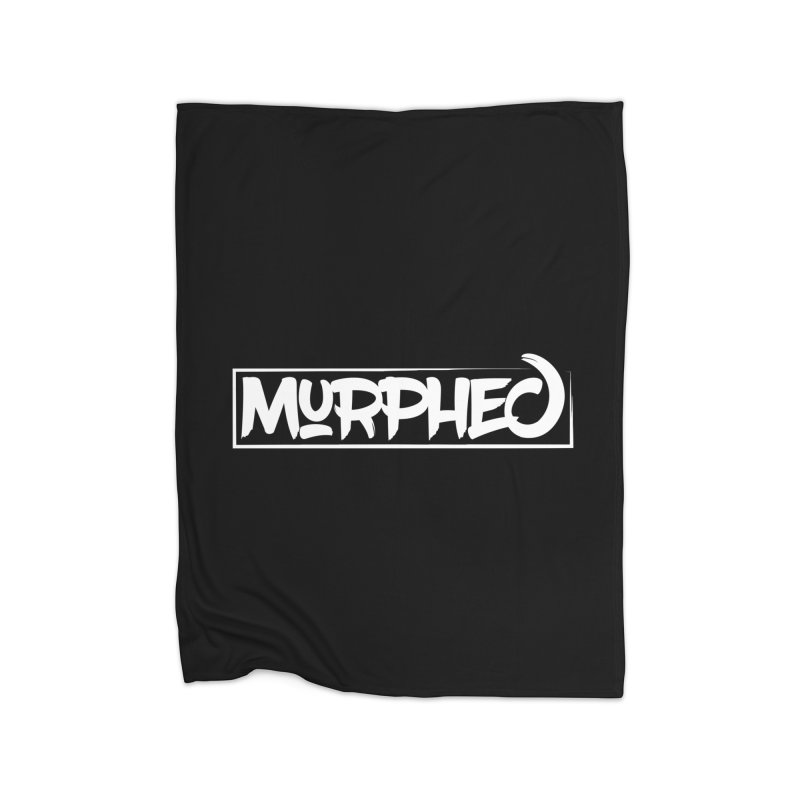 Murphed Logo (White) Home Fleece Blanket by Murphed