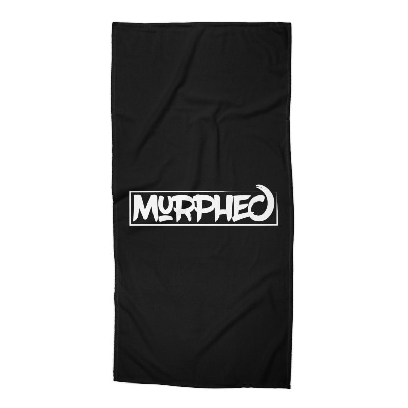 Murphed Logo (White on Black) Accessories Beach Towel by Murphed