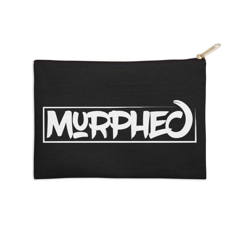 Murphed Logo (White on Black) Accessories Zip Pouch by Murphed