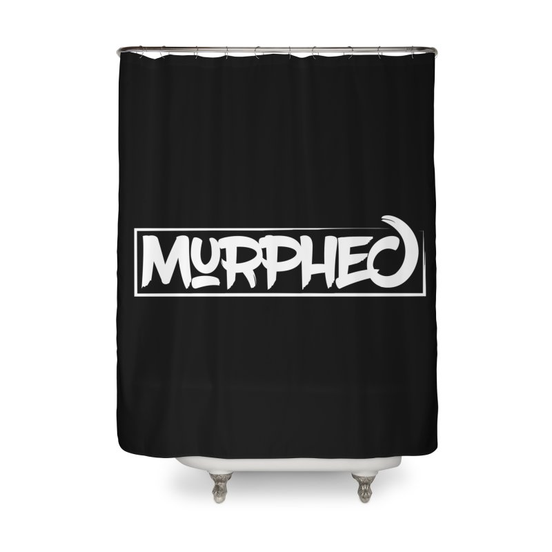 Murphed Logo (White on Black) Home Shower Curtain by Murphed