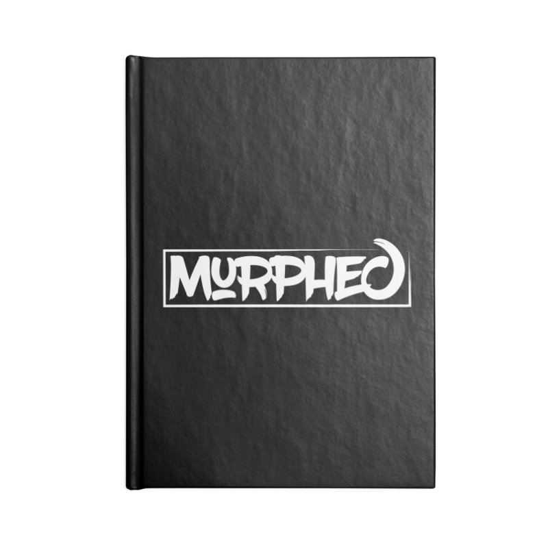 Murphed Logo (White on Black) Accessories Blank Journal Notebook by Murphed